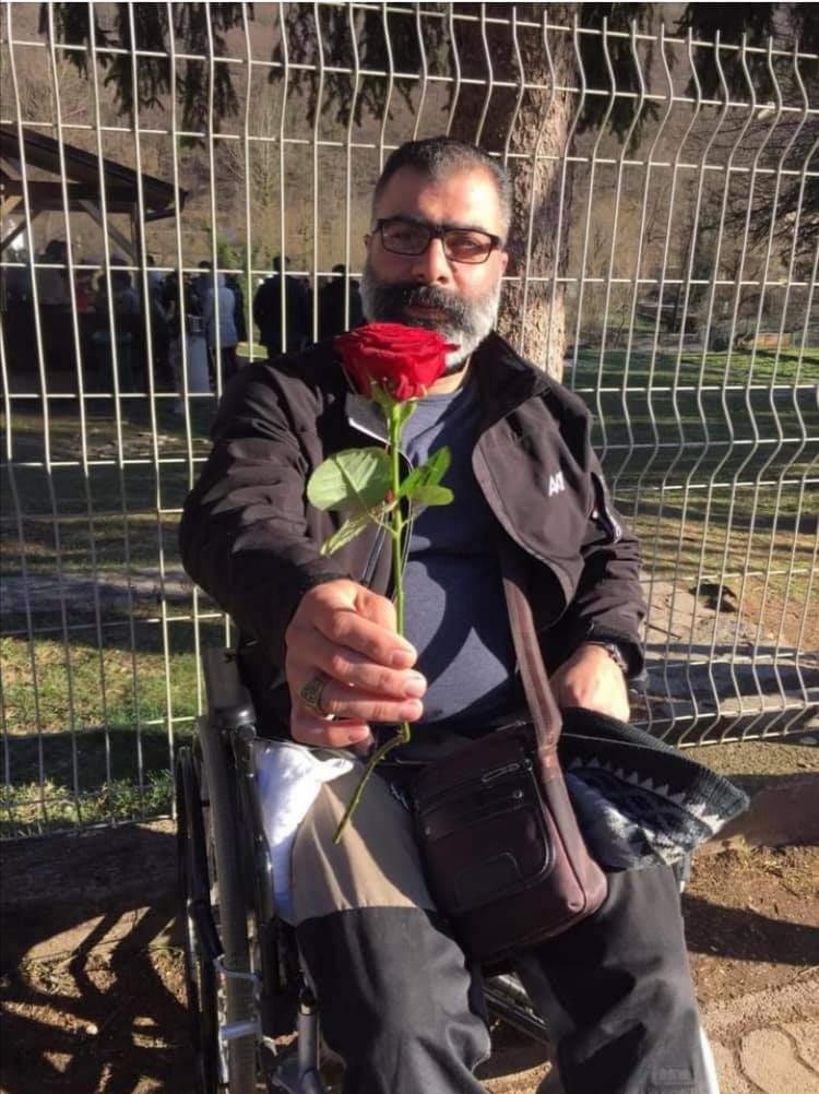 Amir Labbaf: greve de fome e petição online para levar o iraniano até a Europa. Foto Janaina Cesar