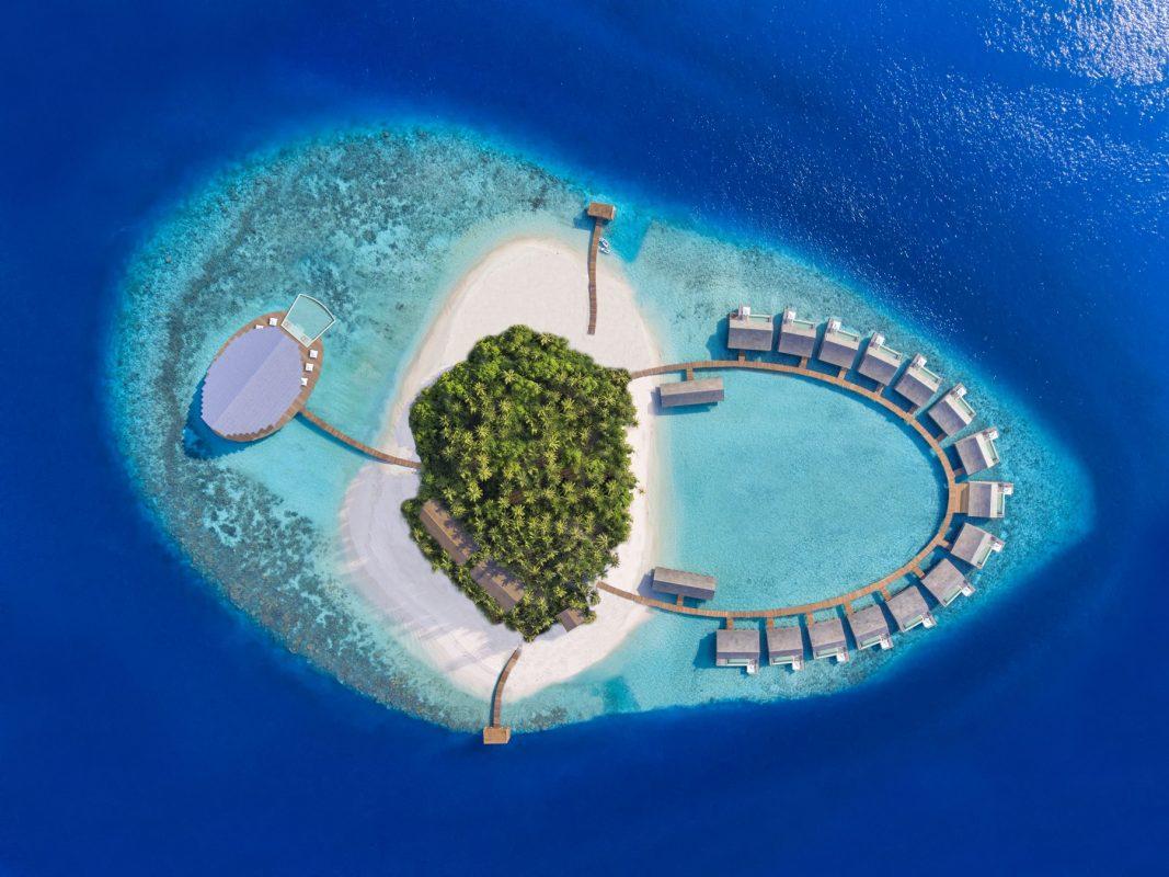 Turismo de vacina: resort nas Ilhas Maldivas