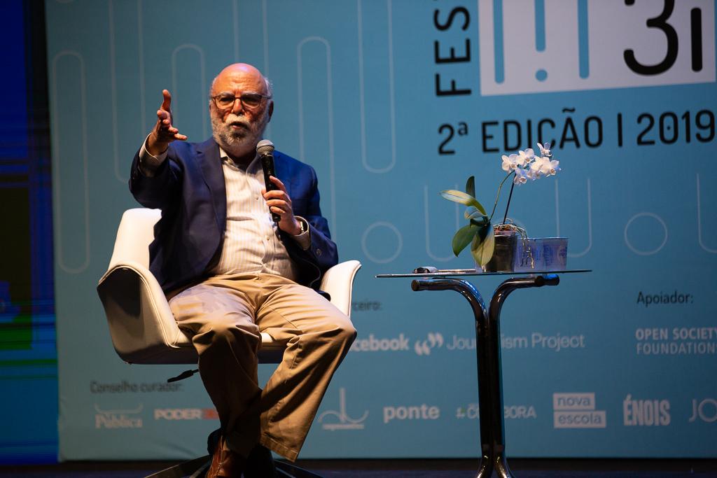 Rosental Alves no 2º Festival 3, no Rio: jornalista e professor será mediador de liv de lançamento da Ajor (José Cícero da Silva - 18/10/2019)