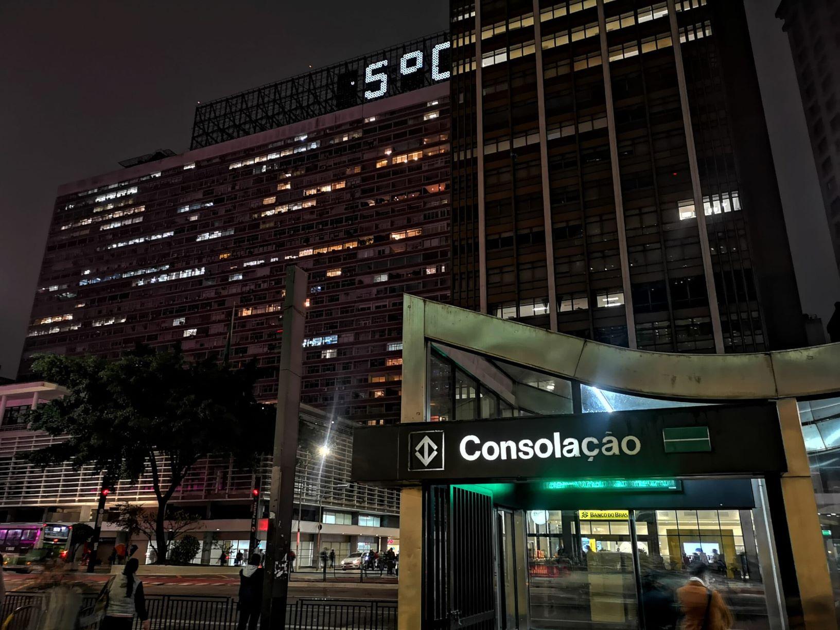 Madrugada gelada na Avenida Paulista: madrugada de quinta para sexta foi a mais fria desde 2016 (Foto: Roberto Parizotti/Fotos Públicas)