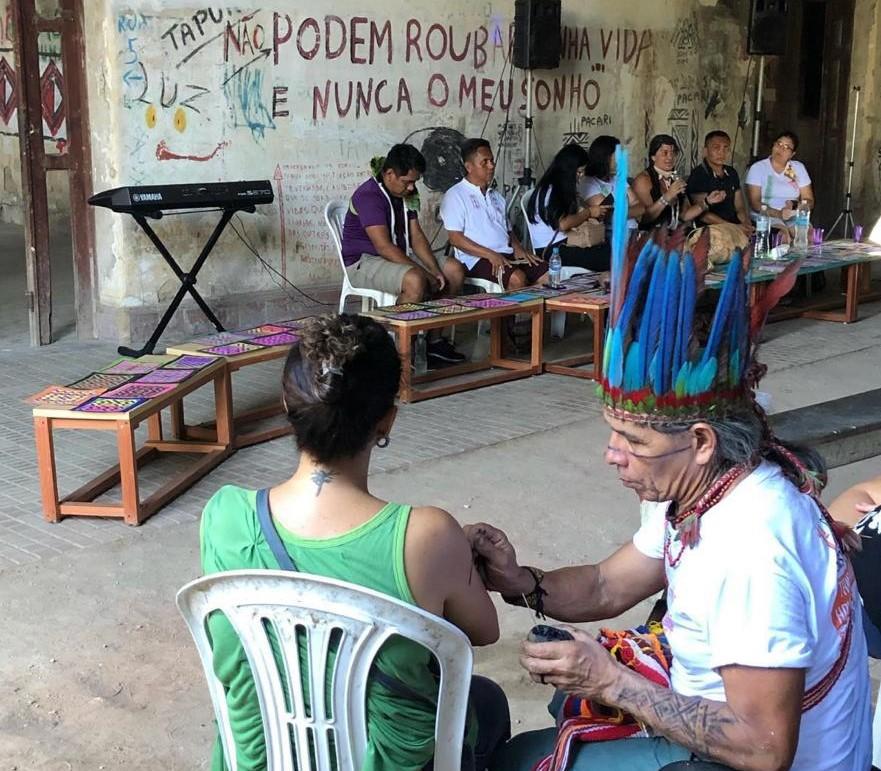 Conferência de Línguas indígenas na Aldeia Maracanã, em 2019: pesquisadores reivindicam Universidade Indígena no local (Foto: Acervo Pessoal/Nadson Nei Souza)