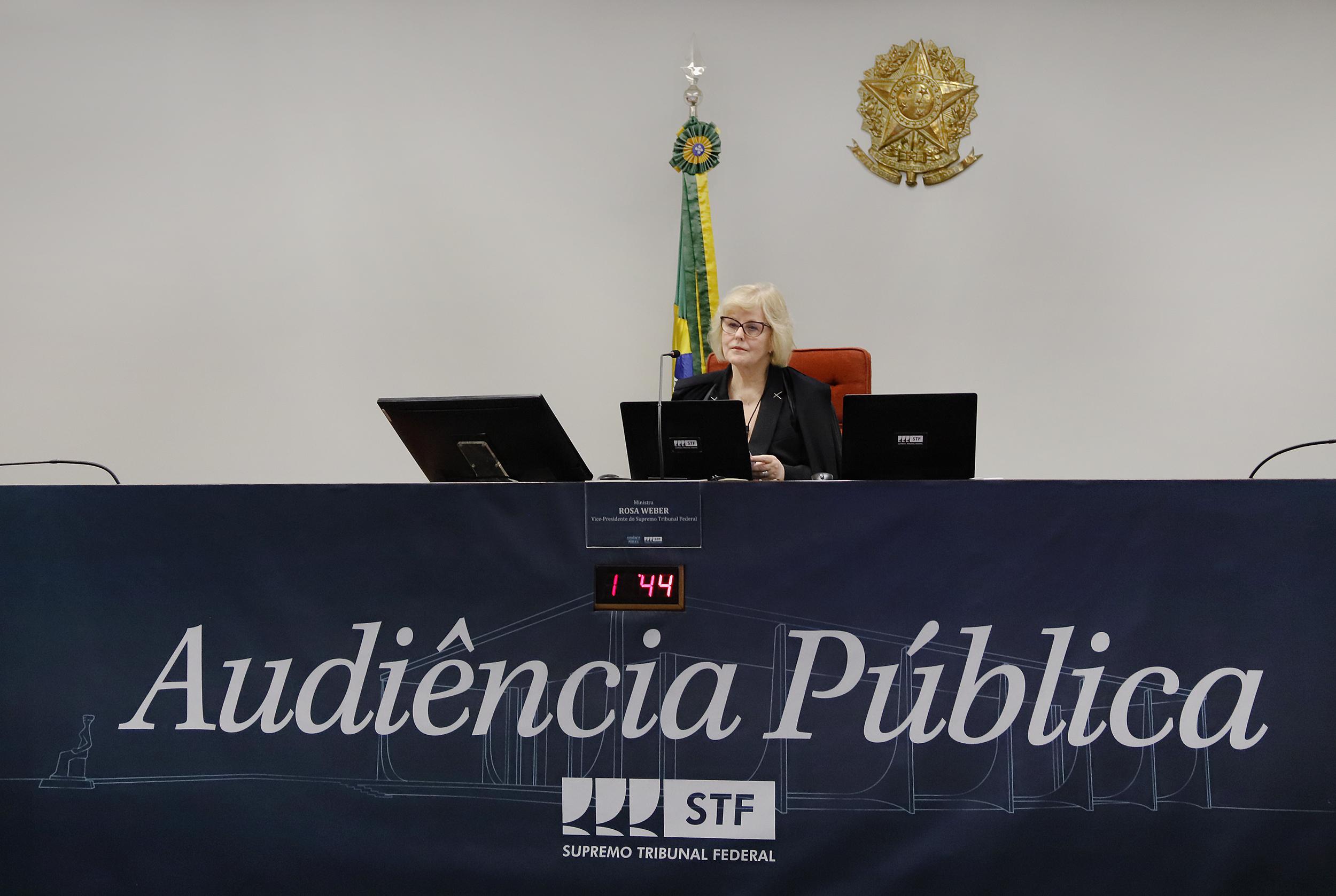 O ministra Rosa Weber preside audiência pública virtual sobre o Fundo Amazônia: número de casos de litígio climático cresce também no Brasil (Foto: Rosinei Coutinho/STF - 26/10/2020)