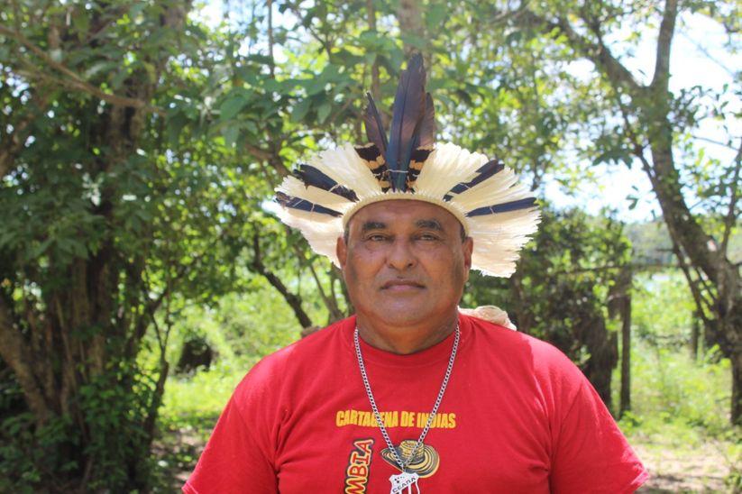 """Dourado Tapeba, líder indígena pela educação: """"Nós conseguimos, com muita luta, construir uma escola indígena diferenciada: todos os funcionários são indígenas (Foto: Natali Carvalho)"""