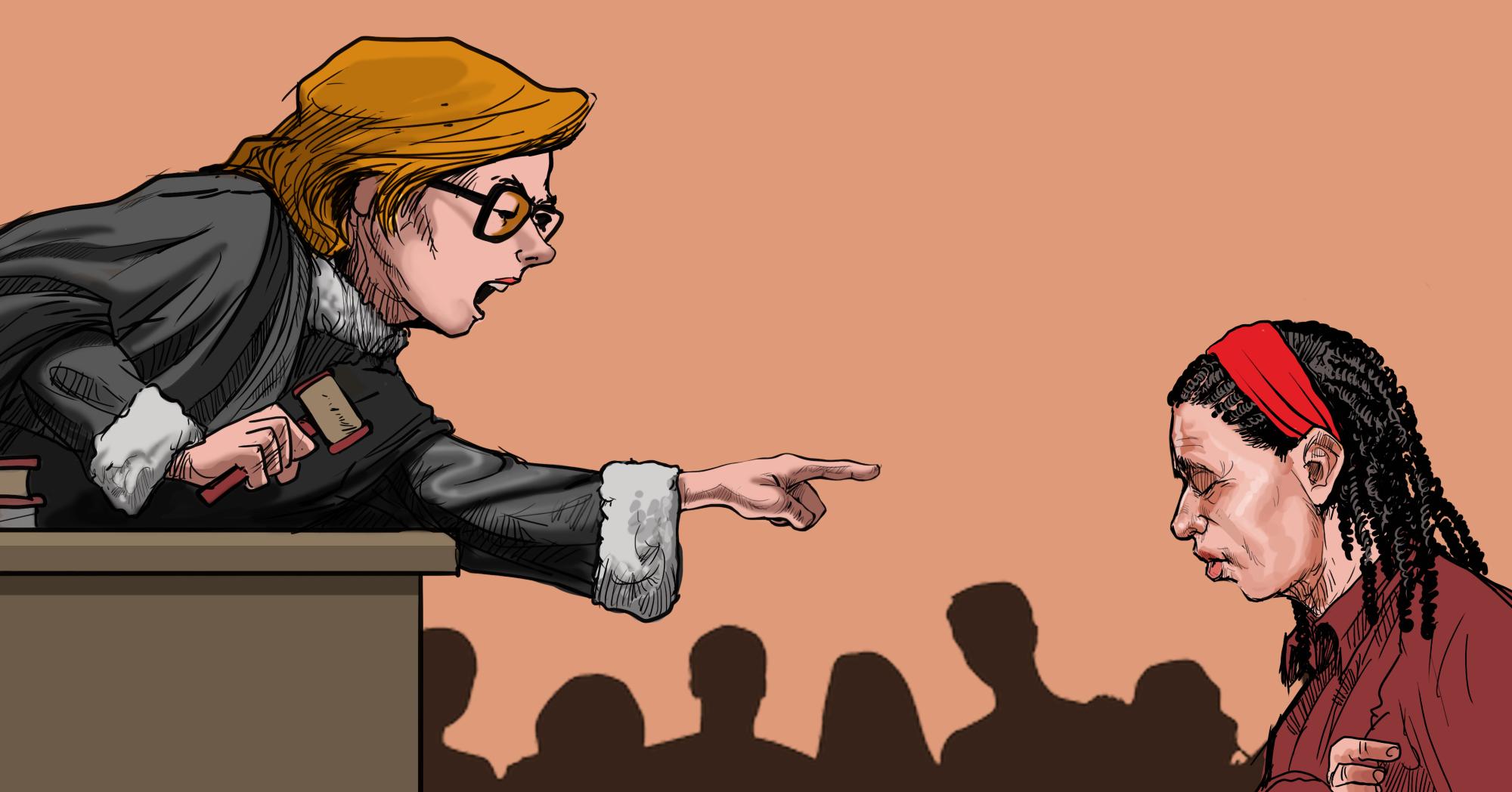 Pesquisa mostrou a falta de empatia por parte das magistradas nos julgamentos: elas são ainda mais opressoras com mulheres e mães do que juízes homens (Ilustração: Claudio Duarte)